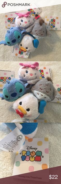 Disney TSUM TSUM (4) Original TSUM TSUM all new with tags, Disney inspired, so adorable - download and connect your favorite character for all new puzzle games Disney Other