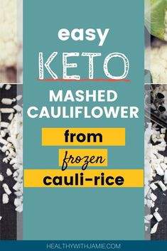 Trying to eat Keto or low carb but LOVE potatoes?  I feel your pain! This is the best keto substitute I've found for my beloved mashed potatoes and it is under 5 carbs per serving compared to 37 carbs for one potato! Just get some frozen organic cauliflower rice in the freezer section, ready to go.  Try out this EASY, delicious loaded mashed cauliflower recipe. #keto #ketorecipe #ketotips Keto Mashed Cauliflower, Frozen Cauliflower Rice, Cauliflower Recipes, Workout To Lose Weight Fast, How To Lose Weight Fast, Sugar Free Diet, Keto Side Dishes, Keto For Beginners, Healthy Lifestyle Tips