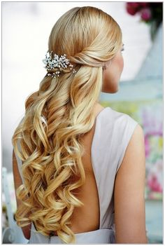 Wedding Hairstyles Partial Up-do Pinterest