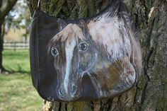 Horse Art Lucky Golden Mind  Large Brown Leather by LuckyHArt