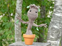 Ravelry: Baby Groot from Guardians of the Galaxy pattern by Maarja Härsing-Värk
