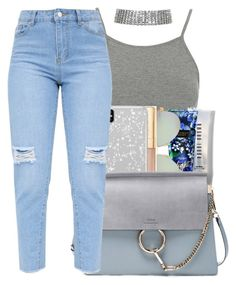 """""""Blue me away"""" by yasmeen4740 ❤ liked on Polyvore featuring Topshop, Bobbi Brown Cosmetics, Victoria's Secret, Tiffany & Co., Dolce&Gabbana and Chloé"""