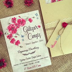 Davetiye / Wedding invitation www.masalsiatolye.com #masalsiatolye #davetiye #weddinginvitation