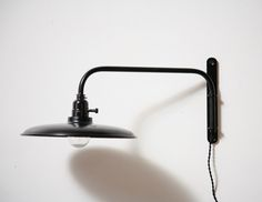 """or master wall sconce?? // Prouve Style Atelier 18"""" Swing Arm Jib Lamp with Shade"""
