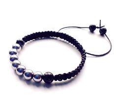 Mens stone jewelry bracelet wristband cuff friendship shamballa beaded fashion #Handmade #Shamballa