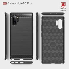 Galaxy Note 10, Galaxy Note 10 Pro Phone Cases Covers Tough Shockproof Carbon Fiber Brushed Pattern Silicone TPU | | Casefanatic
