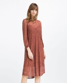 LACE DRESS-View All-DRESSES-WOMAN | ZARA United States