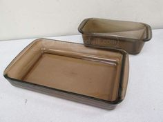 shopgoodwill.com: Vintage Brown Smoked Glass Pyrex Baking Dishes