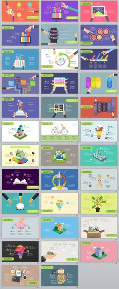 35+ multicolor cartoon infographics PowerPoint Template on Behance