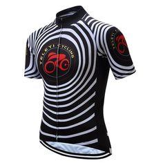 Teleyi Bike Team Men Racing Cycling Jersey Tops Bike Shirt Short 4e46d55df