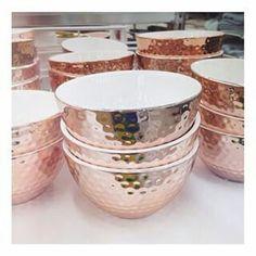 Rose gold bowls
