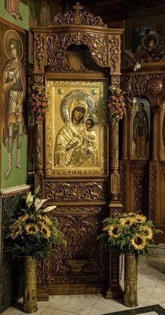 Byzantine Icons, Hail Mary, Orthodox Icons, Madonna, Nature Photography, Angels, Christian, Painting, Inspiration