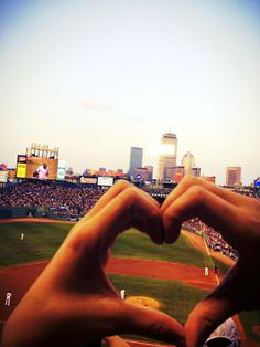 @Kenna Williamson <3 This would make a great picture with AJ on the  football field you making the heart around  him