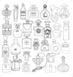 parfum perfume coloriage adulte anti stress paris fashion adult coloring