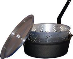 King Kooker CIFFB 6-Quart Cast-Iron Dutch Oven with Aluminum Lid and Basket King Kooker http://www.amazon.com/gp/product/B00264G5BG/ref=as_li_tl?ie=UTF8&camp=1789&creative=390957&creativeASIN=B00264G5BG&linkCode=as2&tag=vilvie-20&linkId=PZHP7WEY4QBYWTPO