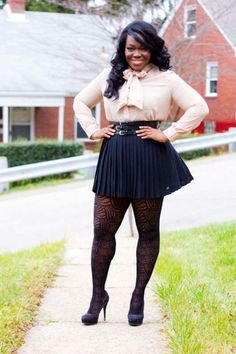 5 ways to wear a mini skirt without looking frumpy - Page 3 of 5 - plussize-outfits.com
