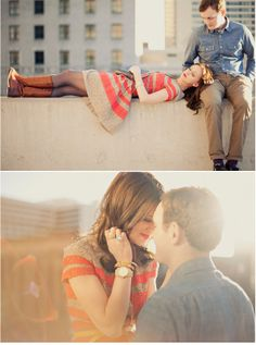rooftop engagement photoshoot. via the kb files. alixann loosle photography.