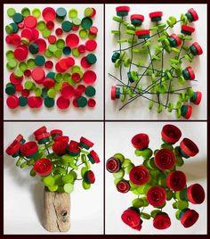 Artificial Flower Making from Plastic Caps – # Flower … – Flowers Desing Ideas Plastic Bottle Tops, Plastic Bottle Crafts, Bottle Cap Crafts, Plastic Caps, Recycle Plastic Bottles, Bottle Caps, Recycled Bottles, Recycled Crafts, Bottle Top Art
