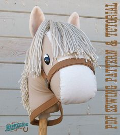 SALE was 8.99 Stick Horse Sewing Pattern and Tutorial Rustic