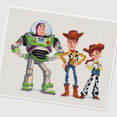 PDF Cross Stitch pattern Toy Story INSTANT DOWNLOAD por PIXcross