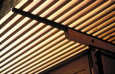 Detail of the pergola at a house in Wandsworth - Níall McLaughlin Architects