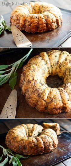 Stuffing In A Bundt Pan.  A perfect #Thanksgiving show stopper on your dining table! This is the prettiest way I've ever seen stuffing made. Love that you can slice it for easy portioning.