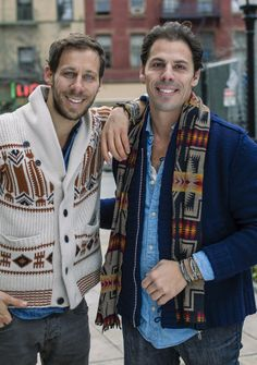 LOOK OF THE WEEK: The Base Project's twin bro founders Chris and Doug wearing tribal knits. See which bracelets they're wearing and discover how you can shop our collection. http://pict.com/p/C0E