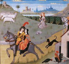 Robinet Testard, Paysage champêtre, Poitiers ou Cognac. © Bibliothèque nationale de France