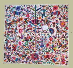 Otomi fabric and textiles from Tenango de Doria, Hidalgo , Mexico by Mexico Culture, via Flickr