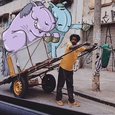 Added Doodles Brazilian artist Lucas Levitan has been drawing for years but due to his shyness - used to keep his art to himself. Lucas tells that while travelling through England, a brick fell from a construction site and missed his head by mere millimeters.