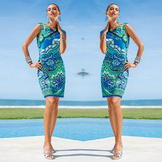 2016 new hot sales print dress sexy beach dress fashion print pattern pencil Bodycon Women's clothing