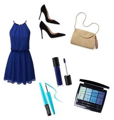 """""""blueish"""" by prachi13 ❤ liked on Polyvore featuring Gianvito Rossi, Mar y Sol, MAKE UP FOR EVER and Christian Dior"""