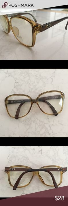 dea32f71bec8 Christian Dior eyeglasses Vintage Dior eyeglass with Beautiful Art Deco  lines. These frames do have prescription lenses currently can be easily  changed out!