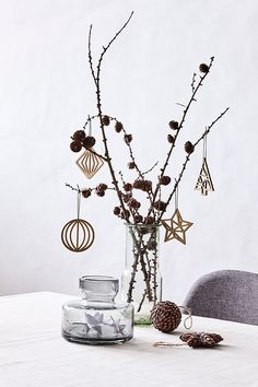Wooden ornaments // A natural touch for the tree. // Available in four designs. // Home decorations for Christmas Price per item £0.69