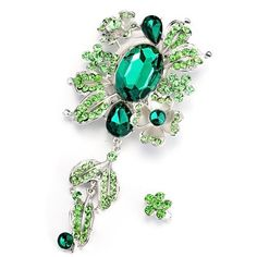 Pugster Vintage May Birthstone Green Crystal Floral Dangle Brooches And Pins Pugster. $15.99. Can be pinned on your gown or fastened in your hair with bobby pins.. One free elegant cushioned Gift box available with every order from Pugster.. Exquisitely detailed designer style,Swarovski element crystal. Money-back Satisfaction Guarantee. Occasion: casual wear,anniversary, bridal, cocktail party, wedding. Save 20%!
