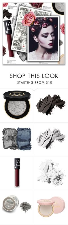 """Dry Rose Beauty"" by kellylynne68 ❤ liked on Polyvore featuring beauty, Gucci, Bobbi Brown Cosmetics, NARS Cosmetics, Too Faced Cosmetics, Beauty, makeup, roses, dryflowers and dryrose"