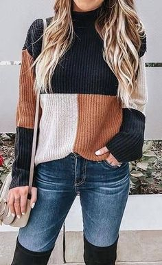 If you're seeking winter jeans outfits, we've got you covered. These outfits are cute, warm, cozy and casual. Pair your jeans with vests, sweaters and more! Winter Outfits Women, Spring Outfits, Jeans Outfit Winter, Outfits 2016, Dressy Winter Outfits, Big Sweater Outfit, Jumper Shirt, Sweater Dresses, Holiday Outfits