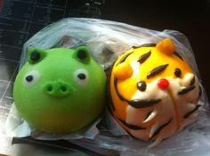 cutie lil piggy & lil tiger steam bun