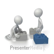 Stickman Building Blocks - Non Looping PowerPoint Animation