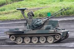 Type 87 self-propelled anti-aircraft gun | by yasu_osugi