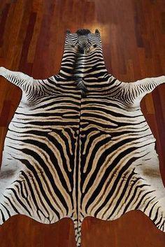 Zebra Skin Rug - No Felt Zebra Skin Rug Grade A