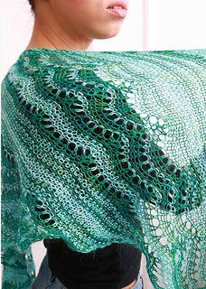 Ravelry: Bias Taj Shawl pattern by Iris Schreier