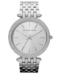 I NEED THIS IN MY LIFE!!!!  Michael Kors Women's Darci Stainless Steel Bracelet Watch 39mm MK3190