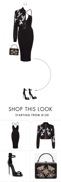 """""""Agora Eu Quero Ir - Look Eight"""" by vicky-carter ❤ liked on Polyvore featuring self-portrait, Giuseppe Zanotti, Alexander McQueen and VanLeles"""