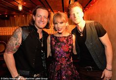 Taylor Swift Photos - Tyler Hubbard (L) and Brian Kelly (R) of Florida Georgia Line and Taylor Swift (C) attend the Big Machine Label Group CMA Awards after party on November 2013 in Nashville, Tennessee. - Inside the CMA Awards Afterparty Origami Owl Necklace, Origami Owl Lockets, Origami Owl Jewelry, Brian Kelley, Tyler Hubbard, Danielle Bradbery, Ethel Kennedy, Cma Awards, Swift Photo