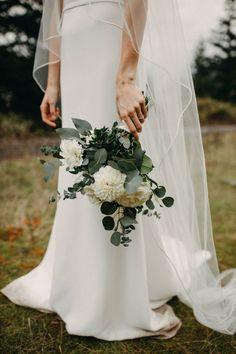 Simple white bouquet with eucalyptus | Image by Lukas Korynta Wedding Vendors, Wedding Blog, Wedding Ceremony, Wedding Stuff, Dream Wedding, Wedding Ideas, Wedding Attire, Wedding Dresses, All White Wedding