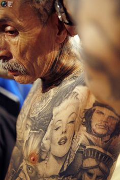 And they say to think about how your tattoos will look when you're older. They clearly look amazing.