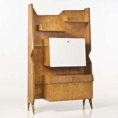 Lot : Gio Ponti (1891-1979) - Bibliothèque, Bois et laiton - Date de création : vers[...] | In the sale Design Italien at Piasa