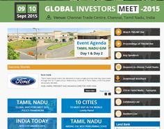 Tamil Nadu Global Investors Meet Live Streaming, Watch TNGIM Live 2015 at tamilnadugim.com, Proceedings of TNGIM live, Global Investors Meet live from Chennai Trade Centre, Chennai, Tamil Nadu