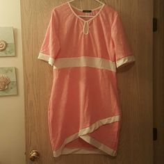 Dress Baby Pink bodycon dress with with piping. Very cute and flattering. NWT. 121 Blv Dresses Mini